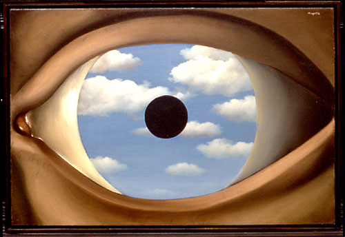 "Rene Magritte's ""The False Mirror."""