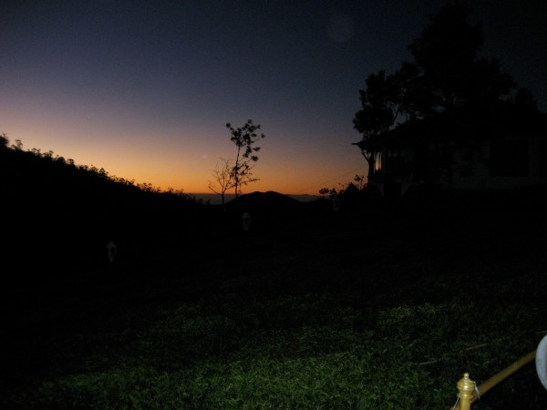 sunrise in India.