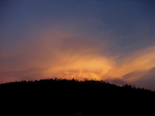 sky over the Nilgiris.