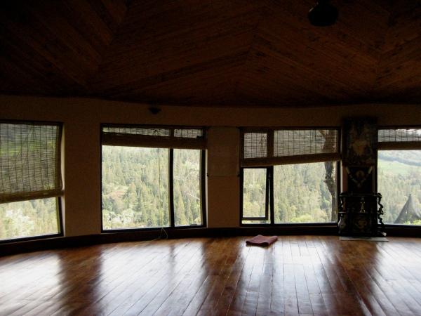 the yoga hall at the ayurvedic retreat where I studied.