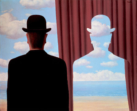 Magritte... the meditator has become one with the object of meditation.